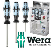 WER-05032060001 - WERA-3334/6 STAINLESS STEEL 6-PCE SCREWDRIVER SET
